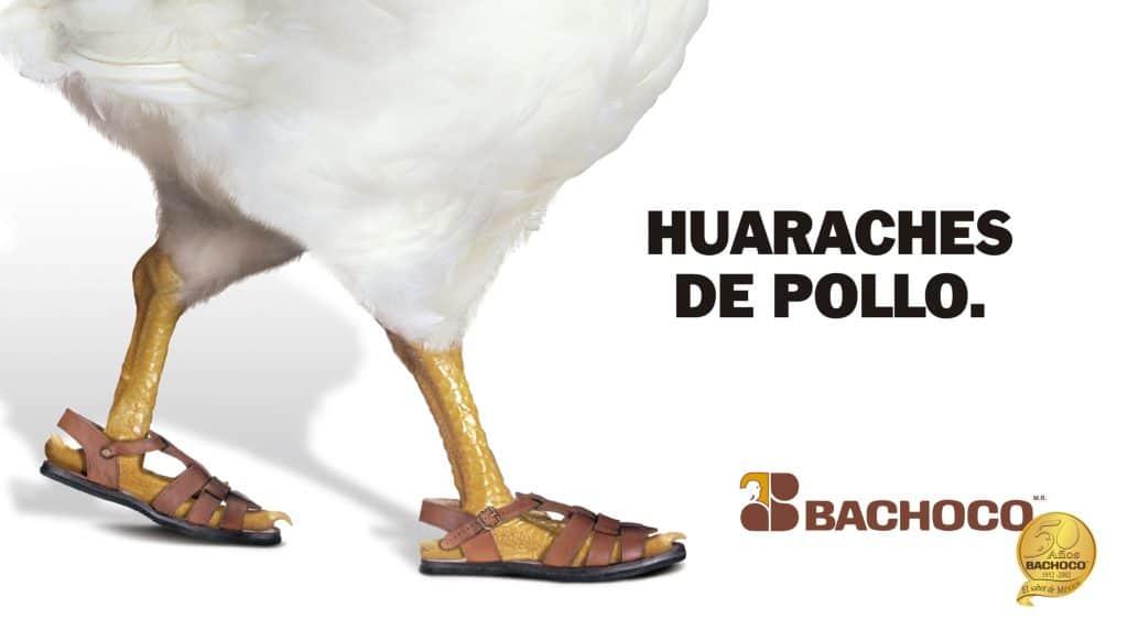 Huaraches de pollo