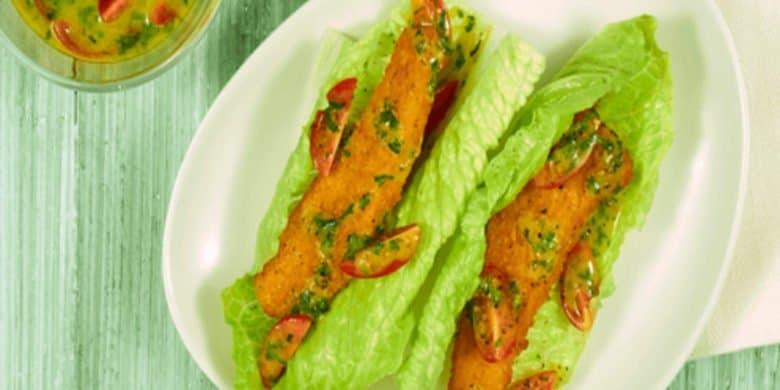 Tacos de lechuga con pollo Paso:   5
