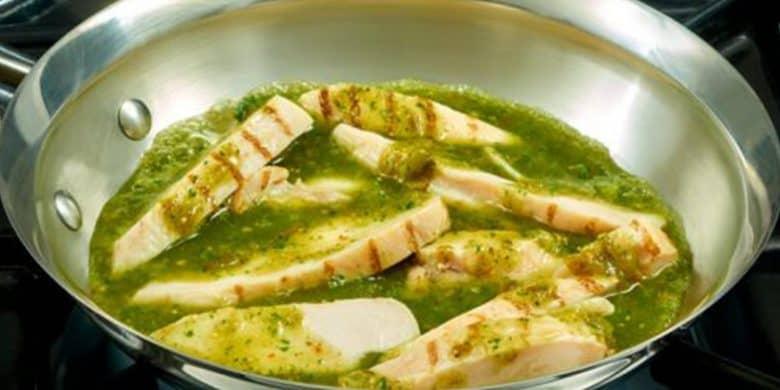 Fajitas de Pollo al Cilantro Limón Paso:   4