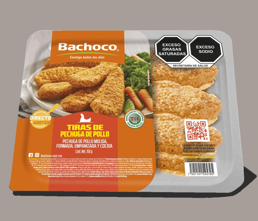 Tiras de pechuga de pollo prácticos 350 g