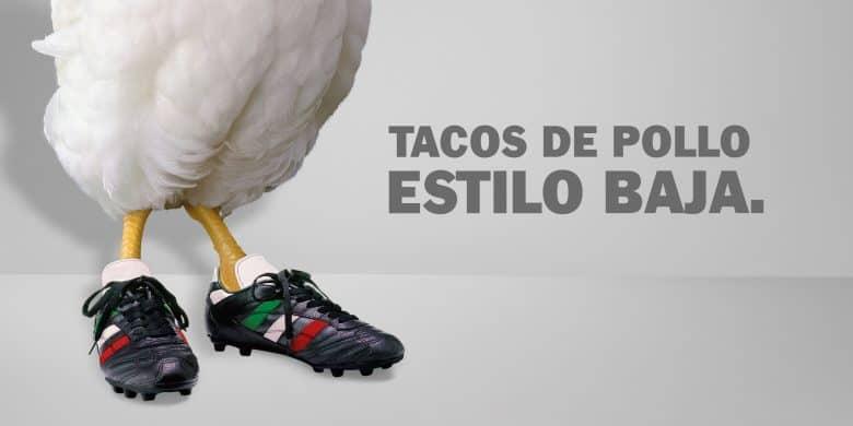 "Tacos de Pollo Estilo ""Baja"""