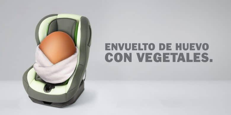 Envuelto de huevo con vegetales