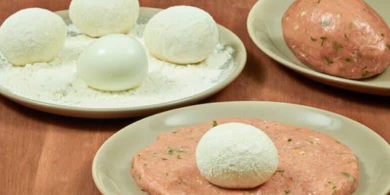 Huevos Escoceses Paso:   4