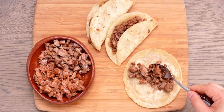 Tacos sudados Paso:   4