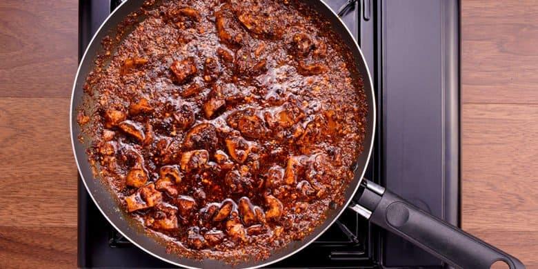 Mollejas en salsa macha Paso:   4