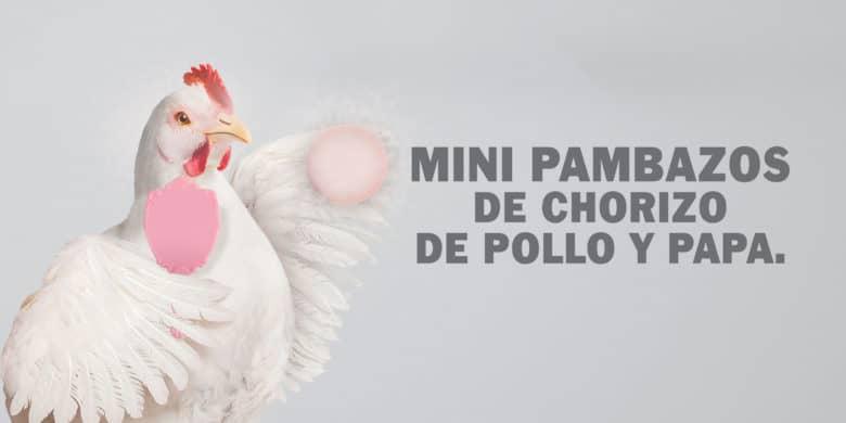 Mini pambazos de chorizo de pollo y papa