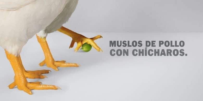 MUSLOS DE POLLO CON CHÍCHAROS