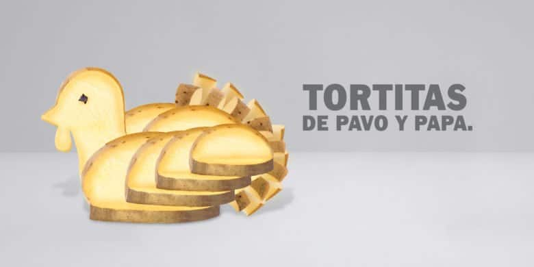 Tortitas Pavo y Papa Bachoco