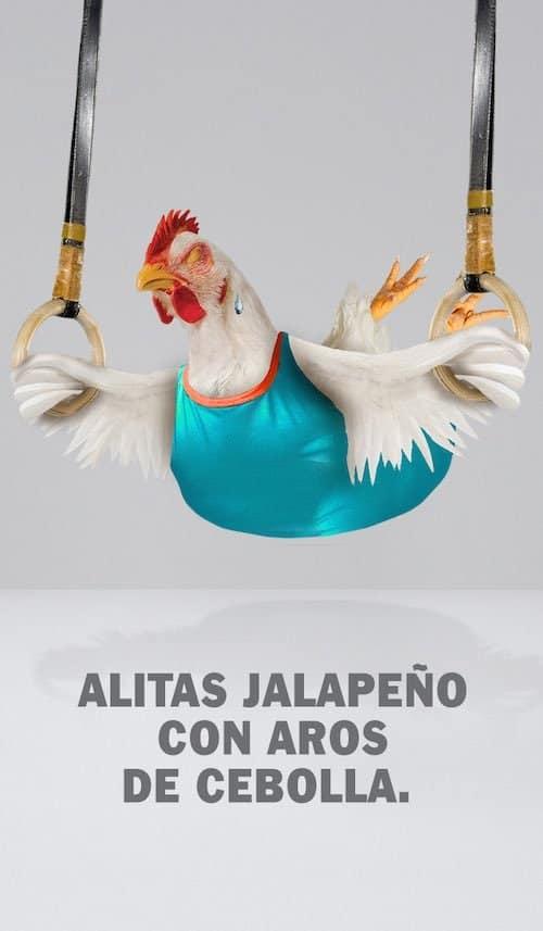 Alitas Jalapeño con Aros de Cebolla