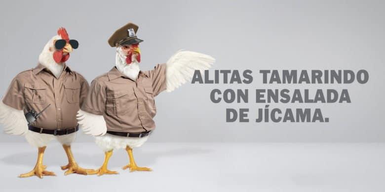 Alitas Tamarindo con Ensalada de Jícama