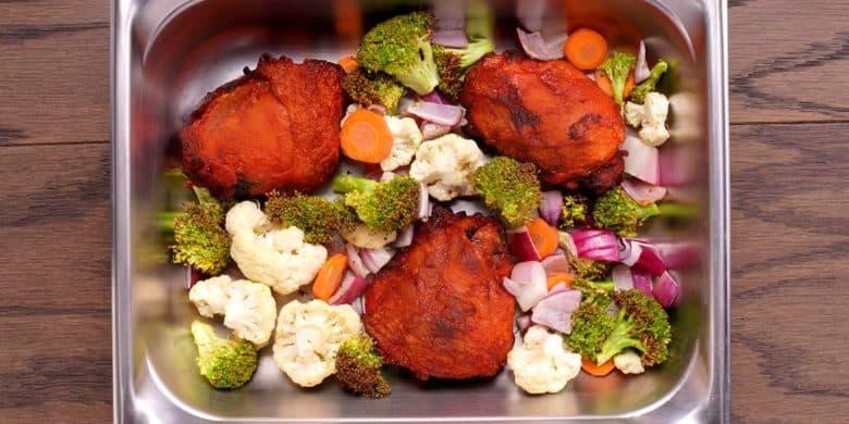 Pollo gratinado con vegetales Paso:   2
