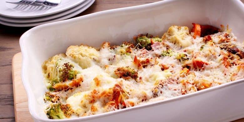 Pollo gratinado con vegetales Paso:   4