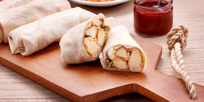 Burritos de pollo y queso Oaxaca Paso:   4