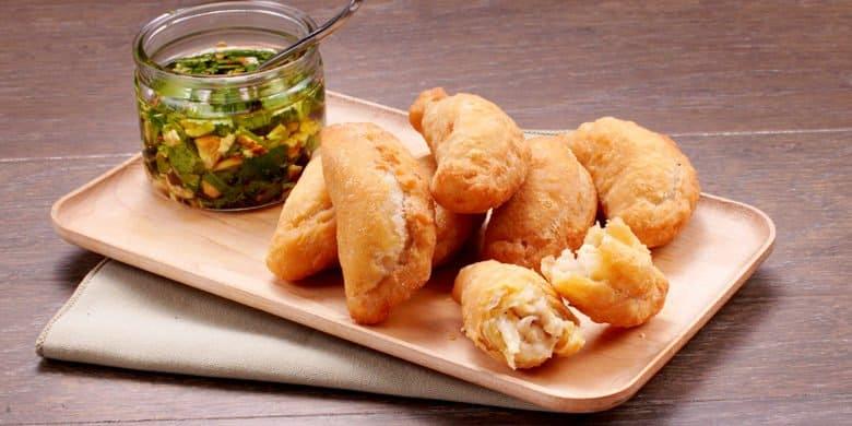 Mini Empanadas de Pollo y papa Paso:   5