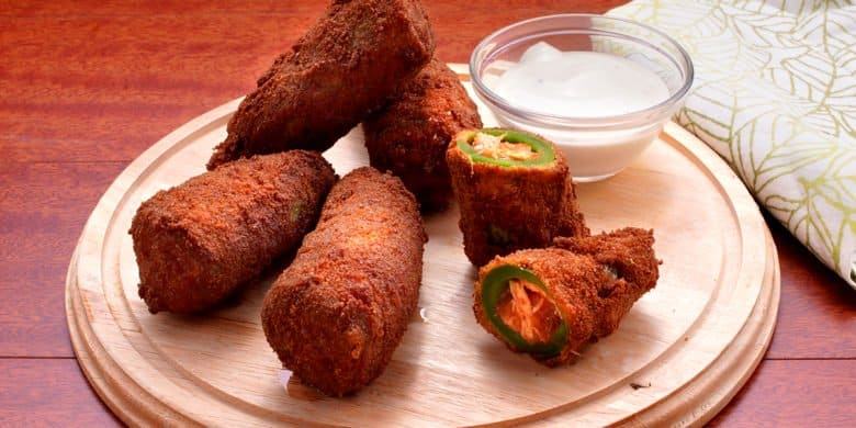 Jalapeños rellenos de tinga de pollo Paso:   5