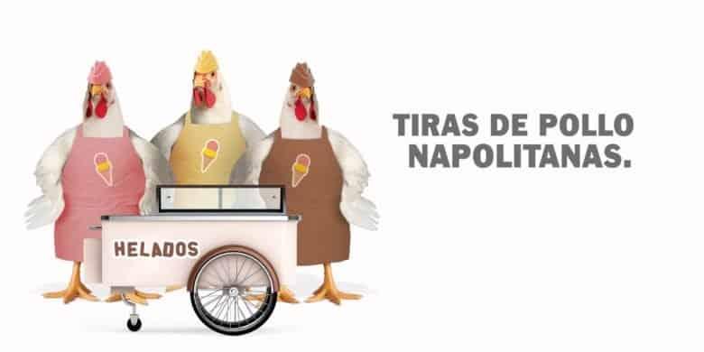 Tiras de pollo napolitanas