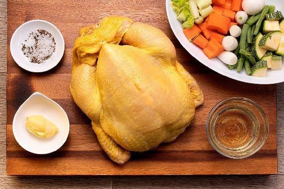 Pollo rostizado con mantequilla Paso:   1