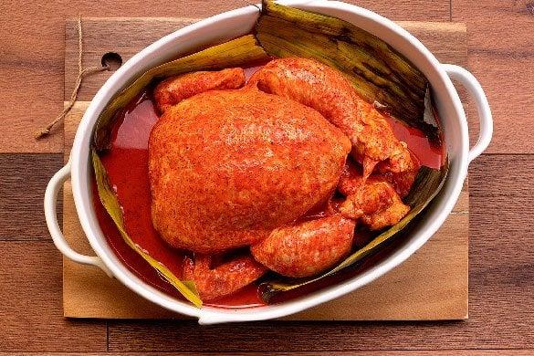 Pollo rostizado con axiote Paso:   2