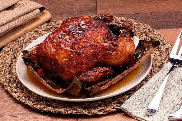 Pollo rostizado con axiote Paso:   3
