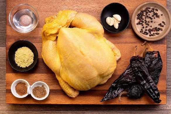 Pollo adobado al horno Paso:   1