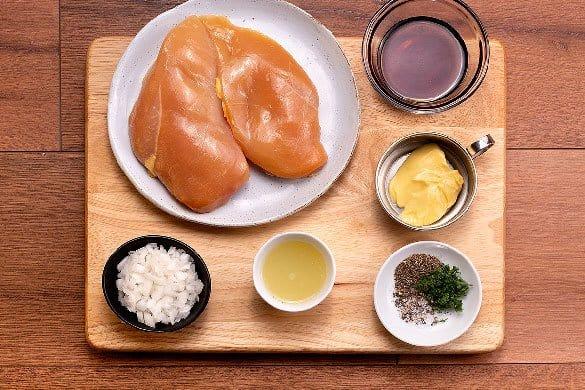Pollo en salsa de maple Paso:   1