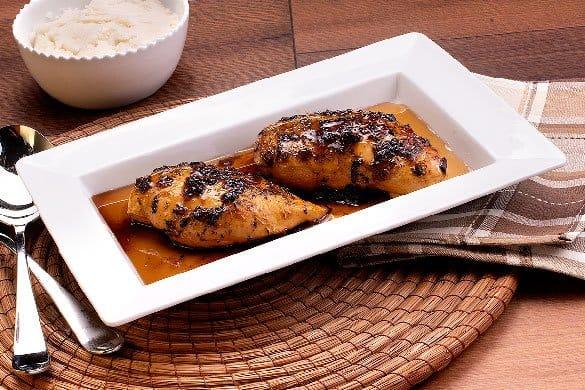 Pollo en salsa de maple Paso:   3