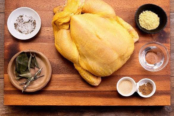 Pollo rostizado natural Paso:   1