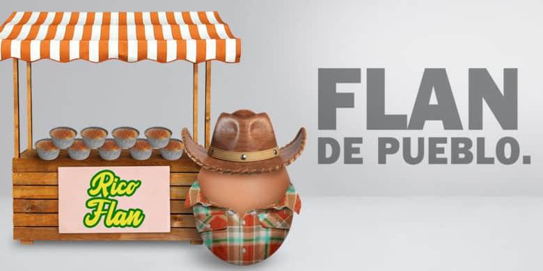 FLAN DE PUEBLO